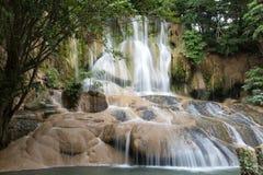 Sam Yok Noi tropical waterfall. Kanchanaburi, Thailand royalty free stock photo