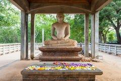 Samadhi菩萨雕象,阿努拉德普勒 库存图片