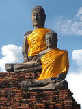 Samadhi Buddha is enshrined on the Chukchi base of Wat Chai Watthanaram Stock Photography