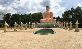 The Samadhi Buddha Statue at Hidellana. Weeragoda Sri Maha Temple in Ratnapura Stock Image