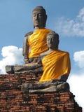 Samadhi Buddha wird auf der Chukchi-Basis von Wat Chai Watthanaram eingeschlossen Stockfotografie