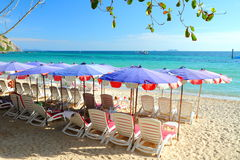 Samae beach at Larn Island, Pattaya Thailand. Stock Photo