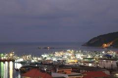 Samaesarn port  in the morning Royalty Free Stock Image