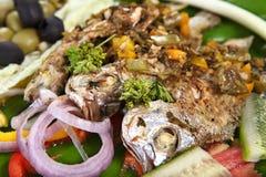 Samak al forno, Samak Harra, pesce al forno, machhalee di Bhuni immagine stock