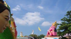 saman rattanaram寺庙 免版税库存照片