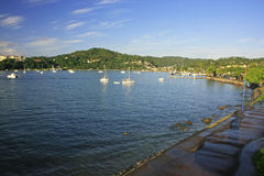 Samana town waterfront Royalty Free Stock Photo