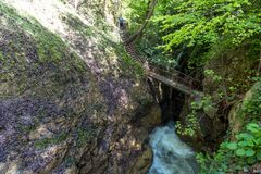 Samandere Waterfall in Duzce Stock Images