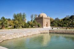Samanid mausoleum. In Bukhara, Uzbekistan stock images