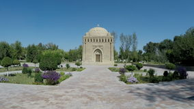 The Samanid mausoleum in the Park, Bukhara, Uzbekistan. UNESCO world Heritage stock video footage