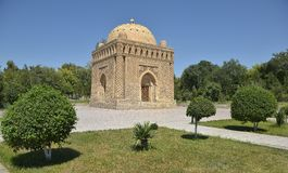 The Samanids Mausoleum - a monument of medieval architecture. Located in the historic centre of Bukhara Stock Images