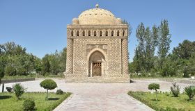 The Samanids Mausoleum - a monument of medieval architecture. Located in the historic centre of Bukhara Royalty Free Stock Photo