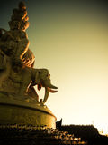 Samantabhadra巨型的雕象在峨眉山,中国山顶的  库存照片