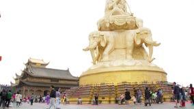 Samantabhadra Bodhisattva statue Royalty Free Stock Image