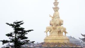 Samantabhadra Bodhisattva statue Stock Image