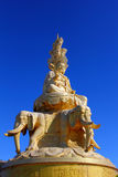 Samantabhadra statue with blue sky Stock Images