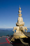 Samantabhadra statue with blue sky Royalty Free Stock Photo