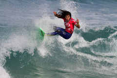 Samantha Cornish. World surfing circuit in Portugal Stock Photo