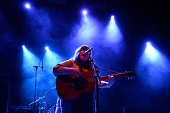 Samantha Crain band in concert at Primavera Club 2015 Festival Stock Photos