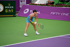 Samantha Stosur. DOHA-QATAR: FEBRUARY 17: Tennis Player Samantha Stosur at Qatar Total Open on February 17, 2012 in Doha, Qatar. The event was held from February stock photography