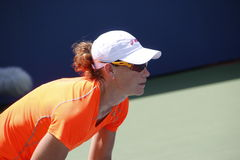 Samantha Stosur. Professional australian tennis player Samantha Stosur during his practice session at the 2013 US open tennis tournament Stock Image