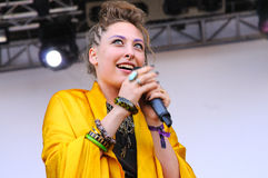 Samantha Urbani, singer of the American band Friends, performs at San Miguel Primavera Sound Festival Royalty Free Stock Photography