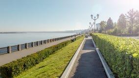 Samara, Ρωσία - τον Ιούνιο του 2017 - ποταμός του Βόλγα και το ανάχωμα της Samara, Ρωσία Στοκ εικόνες με δικαίωμα ελεύθερης χρήσης