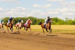 Samara, août 2018 : Course de chevaux au festival équestre photographie stock