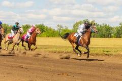 Samara, août 2018 : Course de chevaux au festival équestre image stock