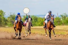 Samara, août 2018 : Course de chevaux au festival équestre images stock
