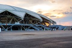 Samara Arena football stadium Royalty Free Stock Images