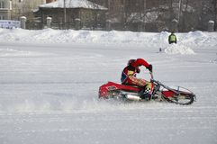 Samara, campeonato Rússia do estrada do inverno foto de stock royalty free