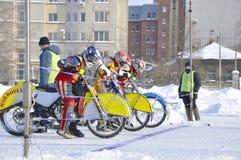 Samara, campeonato Rússia do estrada do inverno fotografia de stock