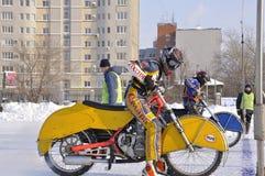Samara, campeonato Rússia do estrada do inverno imagens de stock royalty free