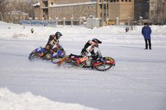Samara, campeonato Rússia do estrada do inverno fotografia de stock royalty free