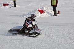 Samara, championnat Russie de speed-way de l'hiver Images stock