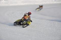Samara, championnat Russie de speed-way de l'hiver Photographie stock libre de droits