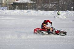 Samara, championnat Russie de speed-way de l'hiver Photo libre de droits