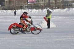 Samara, championnat Russie de speed-way de l'hiver Photos libres de droits