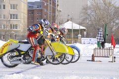Samara, championnat Russie de speed-way de l'hiver Images libres de droits