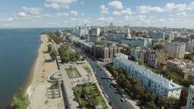 Samara city historical center stock video footage