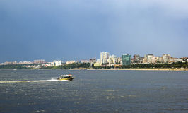 Samara city and Volga river, Russia. Stock Images