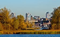 Samara   dall'altra banca del fiume Volga. Fotografia Stock Libera da Diritti