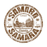 Samara grunge rubber stamp Royalty Free Stock Photography