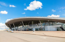 Samara Kurumoch Airport against the blue sky in summer sunny day Royalty Free Stock Images