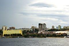 Samara miasto i Volga rzeka, Rosja Obraz Stock