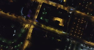 Samara night aerial view stock video footage