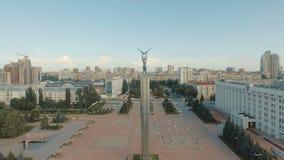 Samara pejzaż miejski z chwała zabytkiem zdjęcie wideo