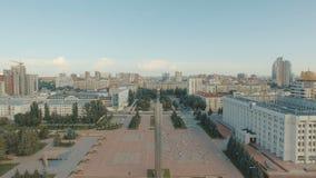 Samara pejzaż miejski z chwała zabytkiem zbiory wideo