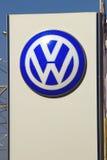 Samara, Rússia - 30 de agosto de 2016 o logotipo do Vo alemão do fabricante de automóveis Foto de Stock