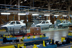 Samara region, Russia -Assembly line of LADA Cars Automobile Factory AVTOVAZ - on December 13, 2007 in Togliatty stock photos